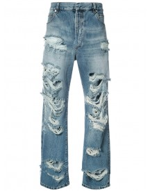 Balmain - Distressed Slouched Jeans - Men - Cotton - 33 afbeelding