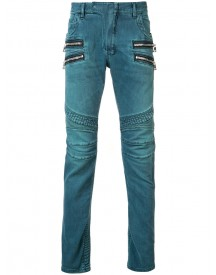 Balmain - Straight Fit Biker Jeans - Men - Cotton/polyethylene - 34 afbeelding