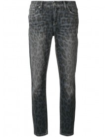 Cambio - Animal Print Liu Cropped Jeans - Women - Cotton/polyester/spandex/elastane - 40 afbeelding