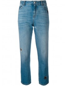 Christopher Kane - Vintage Wash Denim With Eyelet Detail - Women - Cotton/leather/brass - 25 afbeelding