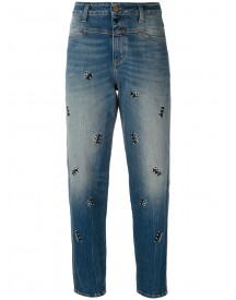 Closed - Embroidered Cropped Jeans - Women - Cotton/spandex/elastane - 25 afbeelding