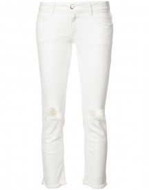 Closed - Ripped Cropped Jeans - Women - Cotton/spandex/elastane - 26 afbeelding