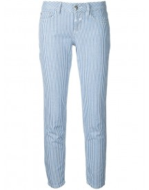 Closed - Striped Crop Jeans - Women - Cotton/linen/flax - 28 afbeelding