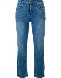 Current/elliott - Cropped Bootcut Jeans - Women - Cotton/polyester/spandex/elastane - 30 afbeelding