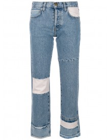 Current/elliott - Cropped Patchwork Jeans - Women - Cotton - 25 afbeelding