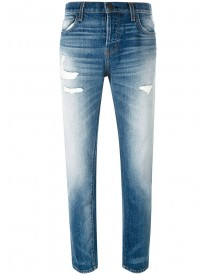 Current/elliott - Distressed Straight Jeans - Women - Cotton - 25 afbeelding