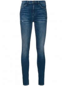 Current/elliott - High-rise Skinny Jeans - Women - Cotton/spandex/elastane - 29 afbeelding