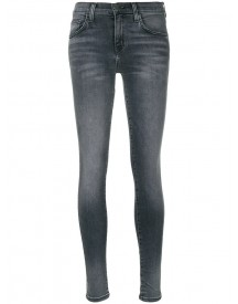 Current/elliott - The Highwaist Ankle Skinny Jeans - Women - Cotton/polyester/spandex/elastane - 28 afbeelding