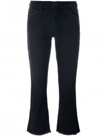 Current/elliott - 'the Kick' Cropped Jeans - Women - Cotton/spandex/elastane - 28 afbeelding