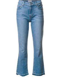 Derek Lam 10 Crosby - Gia Mid-rise Cropped Flare Jeans - Women - Cotton/spandex/elastane - 28 afbeelding