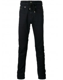 Diesel Black Gold - High Waist Drawstring Skinny Jeans - Men - Cotton/polyester/spandex/elastane - 32 afbeelding
