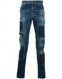 Diesel Black Gold - Patch Tapered Jeans - Men - Cotton/spandex/elastane - 34 afbeelding