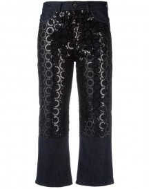 Diesel Black Gold - Sequin Embroidery Cropped Jeans - Women - Cotton/polyester/spandex/elastane - 25 afbeelding
