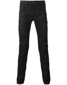 Diesel Black Gold - Side Strap Slim-fit Jeans - Men - Cotton/polyester/spandex/elastane - 33 afbeelding