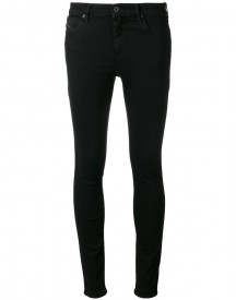 Diesel Black Gold - Type Jeans - Women - Cotton/calf Leather/polyester/spandex/elastane - 29 afbeelding