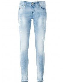 Diesel - Ripped Detail Skinny Jeans - Women - Cotton/polyester/spandex/elastane - 31/32 afbeelding