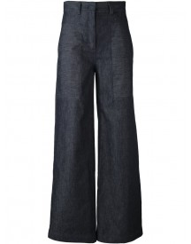 Dkny - Printed Wide Leg Cropped Jeans - Women - Cotton/linen/flax - 2 afbeelding