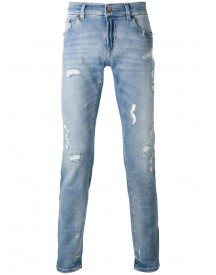 Dolce & Gabbana - Distressed Jeans - Men - Cotton/calf Leather/spandex/elastane/zamac - 54 afbeelding