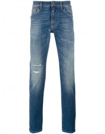 Dolce & Gabbana - Distressed Jeans - Men - Cotton/spandex/elastane - 56 afbeelding