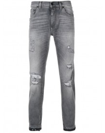Dolce & Gabbana - Distressed Skinny Jeans - Men - Cotton/calf Leather/spandex/elastane/zamac - 52 afbeelding