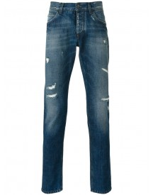 Dolce & Gabbana - Distressed Straight Jeans - Men - Cotton - 52 afbeelding