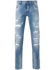 Dolce & Gabbana - Ripped Detail Jeans - Men - Cotton - 50 afbeelding