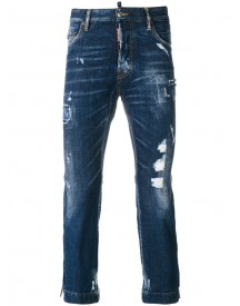 Dsquared2 - Biker Sky Jeans - Men - Cotton/calf Leather/polyester/spandex/elastane - 52 afbeelding