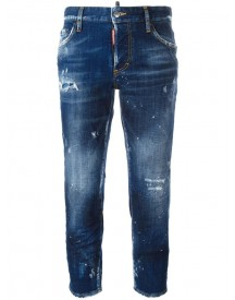 Dsquared2 - Boyfriend Cropped Jeans - Women - Cotton/polyester/spandex/elastane - 42 afbeelding