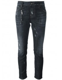 Dsquared2 - Cool Girl Chain Trim Jeans - Women - Cotton/spandex/elastane - 38 afbeelding