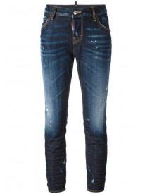 Dsquared2 - Cool Girl Whiskered Accent Jeans - Women - Cotton/leather/polyester/spandex/elastane - 42 afbeelding