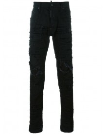 Dsquared2 - Cool Guy Distressed Patchwork Jeans - Men - Cotton/polyester/spandex/elastane - 44 afbeelding
