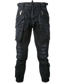 Dsquared2 - Cropped Cargo Jeans - Men - Cotton/spandex/elastane - 44 afbeelding