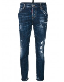 Dsquared2 - Cropped Cool Girl Jeans - Women - Cotton/calf Leather/polyester/spandex/elastane - 40 afbeelding