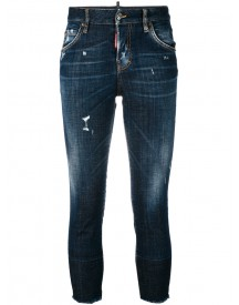 Dsquared2 - Denim 'cool Girl' Cropped Jeans - Women - Cotton/leather/polyester/brass - 36 afbeelding