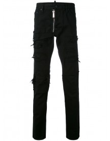 Dsquared2 - Denim Ripped Side Jeans - Men - Cotton - 50 afbeelding