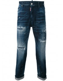 Dsquared2 - Distressed Glam Head Jeans - Men - Cotton/spandex/elastane/wool - 48 afbeelding