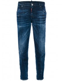 Dsquared2 - Distressed Hockney Jeans - Women - Cotton/polyester/spandex/elastane - 42 afbeelding