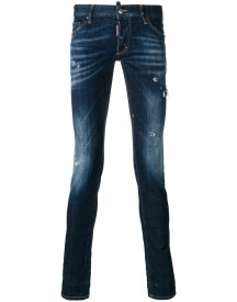 Dsquared2 - Distressed Long Clement Jeans - Men - Cotton/polyester/spandex/elastane - 48 afbeelding
