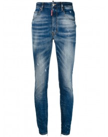 Dsquared2 - Distressed Skinny Jeans - Women - Cotton/calf Leather/polyester/spandex/elastane - 38 afbeelding