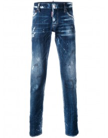 Dsquared2 - Distressed Slim-fit Jeans - Men - Cotton/leather/polyester/spandex/elastane - 46 afbeelding