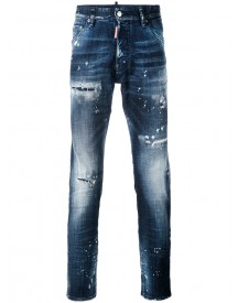 Dsquared2 - Distressed Slim-fit Jeans - Men - Cotton/leather/polyester/spandex/elastane - 50 afbeelding