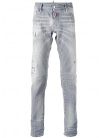 Dsquared2 - Distressed Slim-fit Jeans - Men - Cotton/leather/polyester/wool - 52 afbeelding