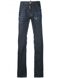 Dsquared2 - Distressed Straight Leg Jeans - Men - Cotton/calf Leather/polyester/spandex/elastane - 54 afbeelding