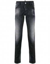 Dsquared2 - Faded Slim Jeans - Men - Cotton/calf Leather/polyester/wool - 54 afbeelding