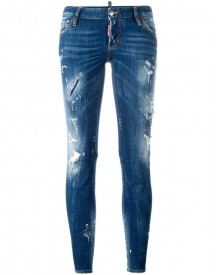Dsquared2 - Flare Distressed Stonewash Jeans - Women - Cotton/spandex/elastane - 40 afbeelding