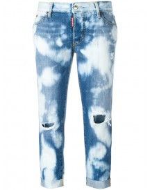 Dsquared2 - Glam Head Bleached Pattern Jeans - Women - Cotton - 42 afbeelding