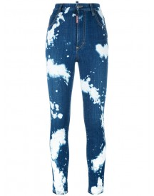 Dsquared2 - Glamhead Bleached Splatter Jeans - Women - Cotton/polyester/spandex/elastane - 36 afbeelding