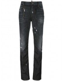 Dsquared2 - Los Angeles Chain Trim Jeans - Women - Cotton/polyester/spandex/elastane - 42 afbeelding