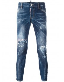 Dsquared2 - Sexy Twist Distressed Jeans - Men - Cotton/polyester/spandex/elastane - 48 afbeelding