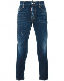 Dsquared2 - Skater Stonewashed Jeans - Men - Cotton/calf Leather/polyester/spandex/elastane - 56 afbeelding
